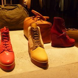 Women's shoes. There's a sort of hiking-boots/Reeboks/creepers thing happening here.