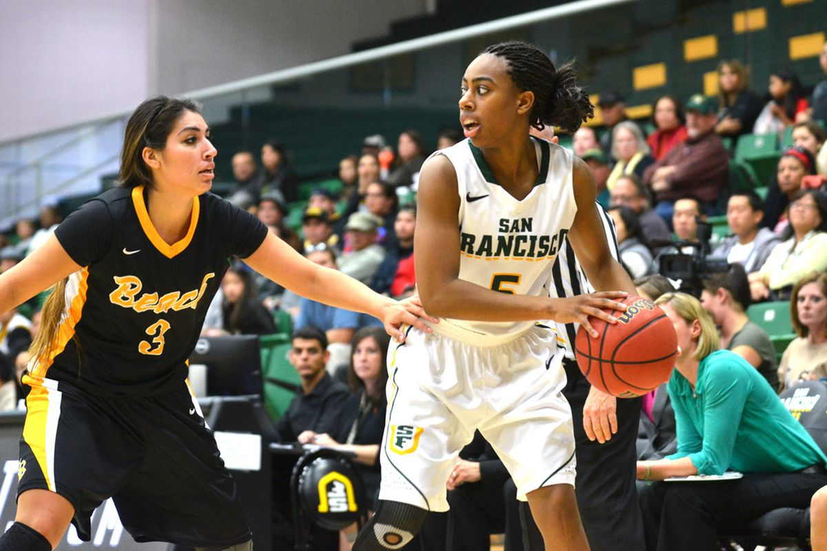 University of San Francisco junior Taj Winston hit a big three at the end of regulation to send their home opener into overtime.