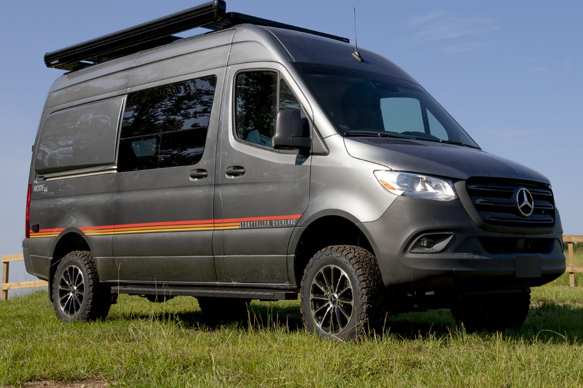 Four-wheel-drive camper van is prepped for off-grid