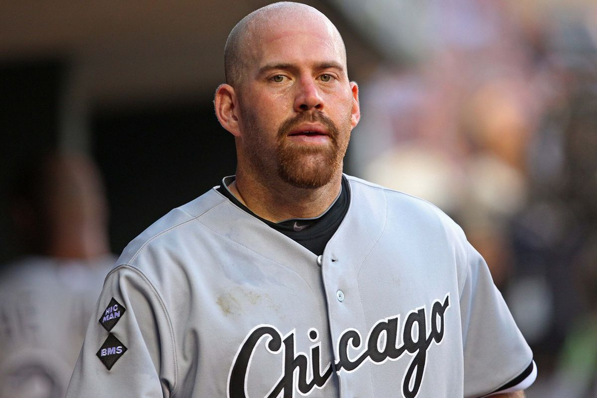 June 25, 2012; Minneapolis, MN, USA: Chicago White Sox third baseman Kevin Youkilis (20) looks on from the dug out during the fourth inning against the Minnesota Twins at Target Field. Mandatory Credit: Jesse Johnson-US PRESSWIRE
