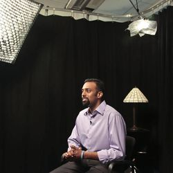 Jason Puracal, just released from two years of imprisonment in Nicaragua, sits for an interview on Monday, Sept. 17, 2012 in New York.  Puracal, from Tacoma, Wash., had his 22-year conviction on drug and money laundering charges vacated by a three panel Nicaraguan appellate court.