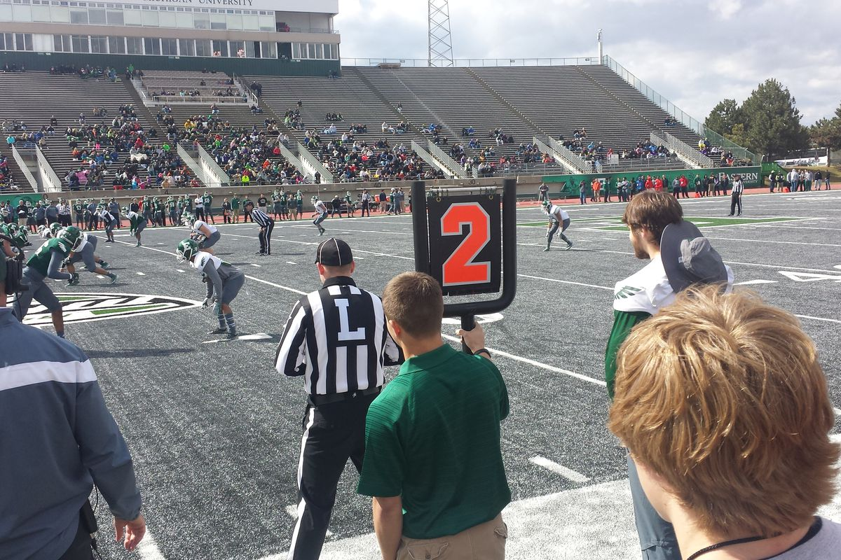 EMU competing in their most recent Spring Game.