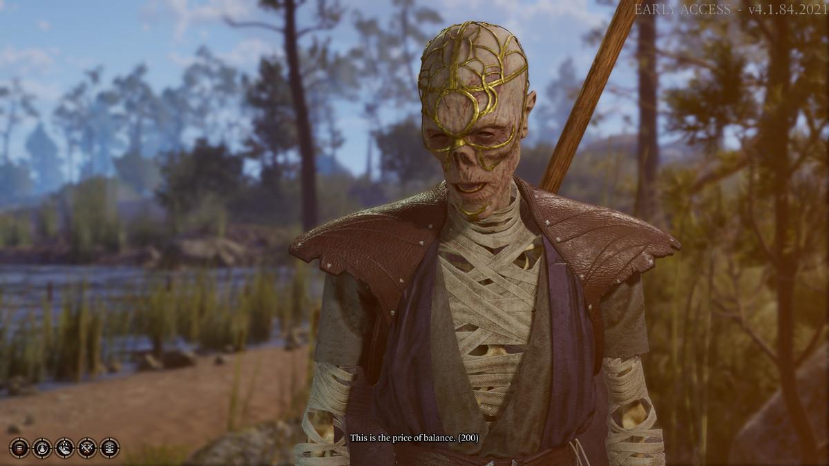 The Talkative Skeleton in your camp in Baldur's Gate 3