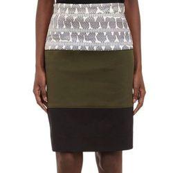 "<b>Proenza Schouler</b> pencil skirt, <a href=""http://www.barneyswarehouse.com/proenza-schouler-paneled-pencil-skirt-503366529.html?index=6&cgid=clearance-whswclothing"">$144.50</a>"