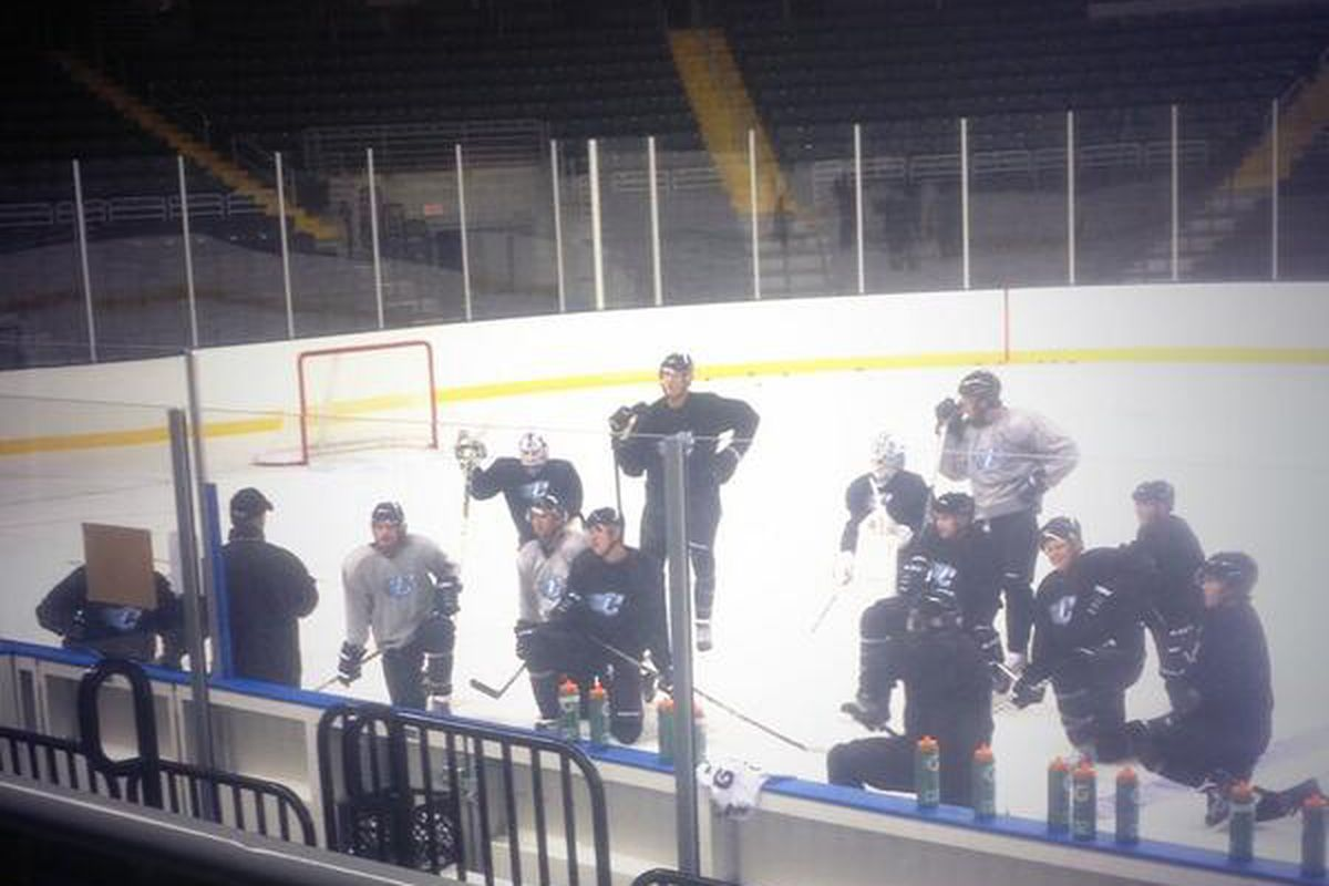 St. Charles Chill hit the ice this morning for training camp.