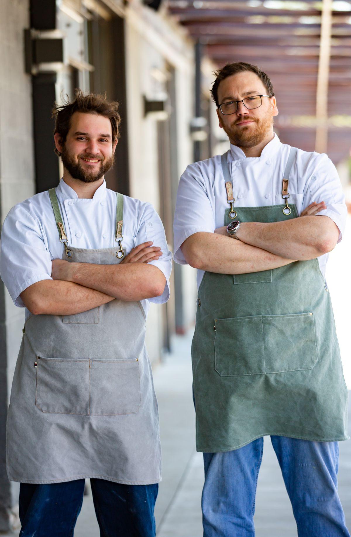 Chefs James Semanisin and Byars Parham, owners of Pomodoro Bella