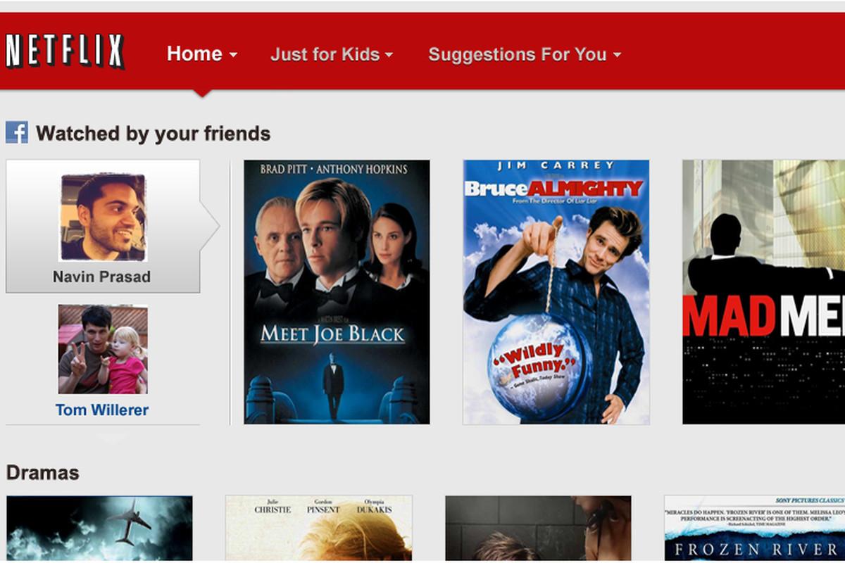 Netflix Facebook Sharing