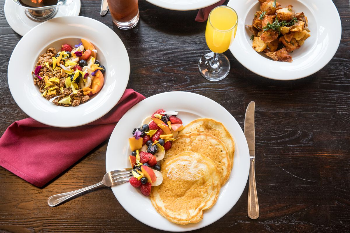 Pancakes and more on the brunch menu at Golden Bull