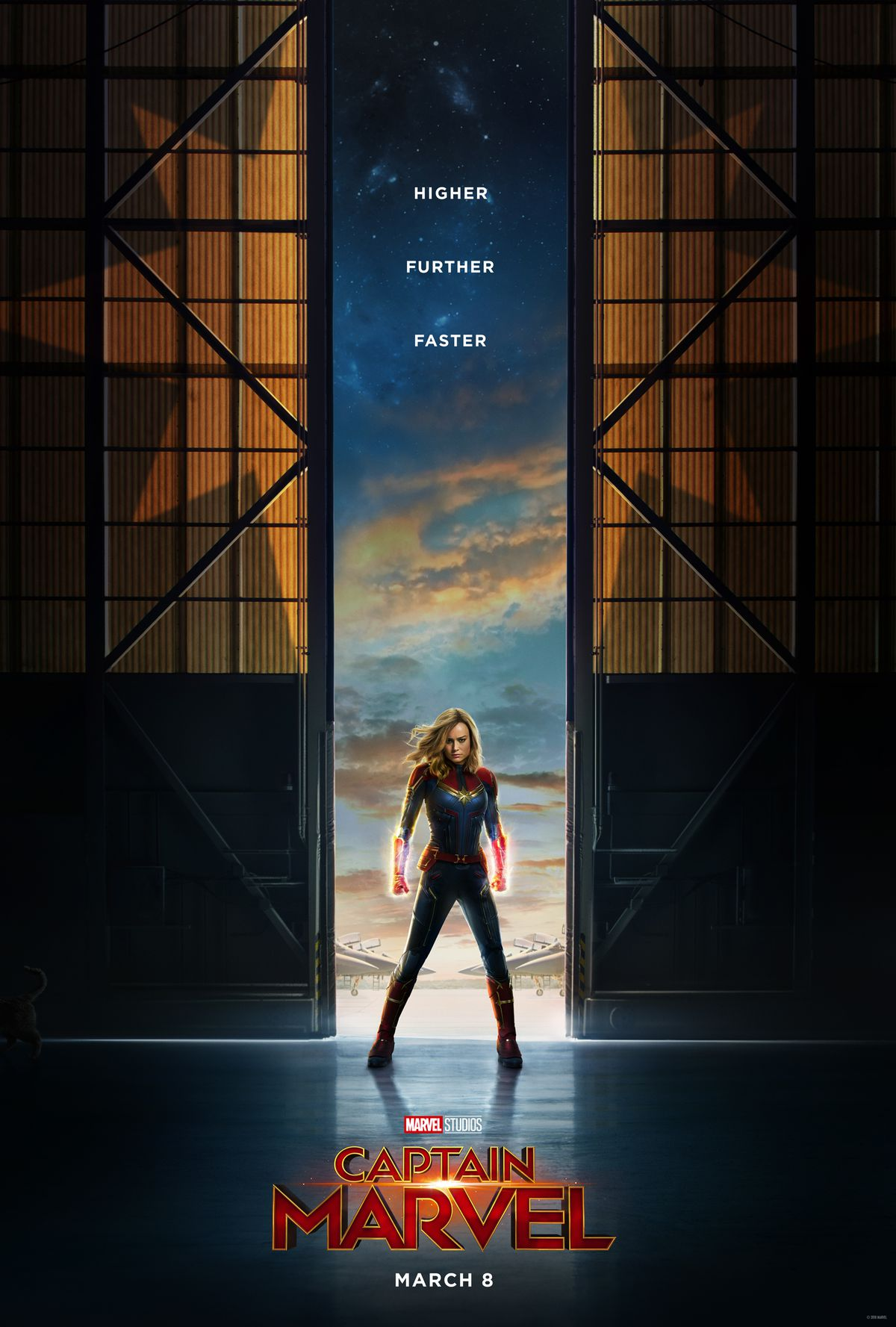 captain marvel poster the secret cat easter egg has a comic past