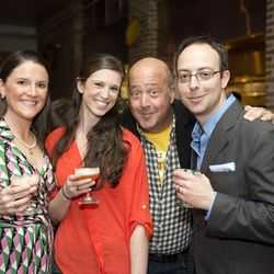 Eater's Cole Boyle and Jen Leibow, Bizarre Foods' Andrew Zimmern and Eater Louisville editor Zach Everson
