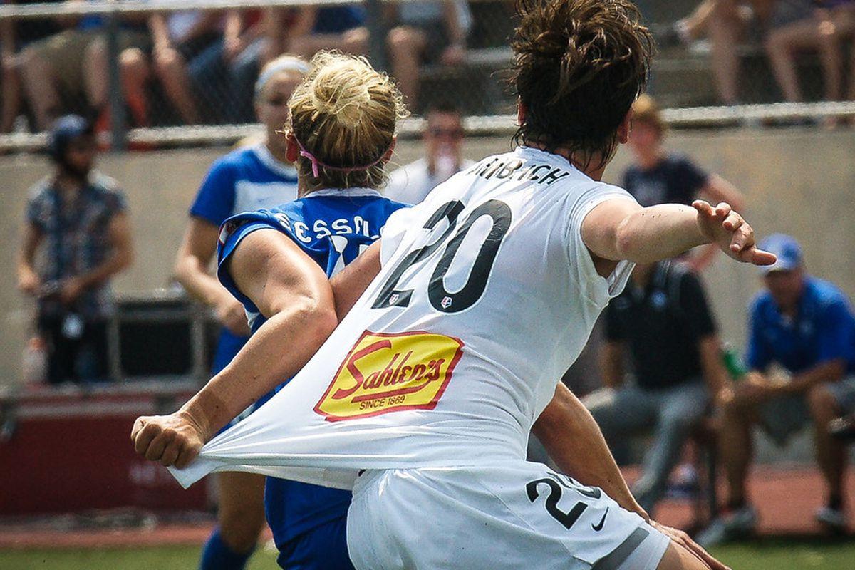 Lauren Sesselmann and Abby Wambach had an epic battle