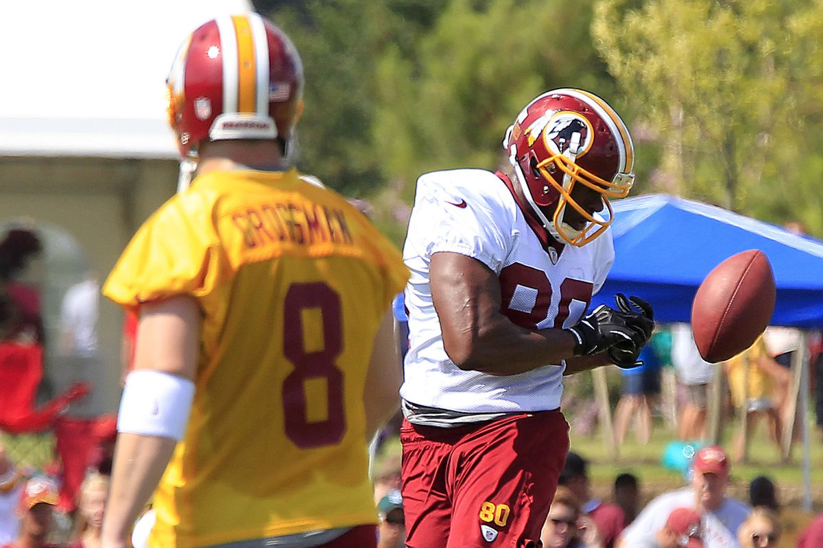 Emmanuel Ogbuehi (right) with the Redskins in 2013.