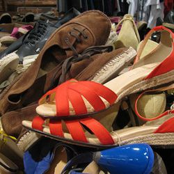 There was a ton of Marais, so these red sandals are probably still available.