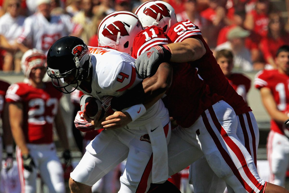 Wisconsin sacked Oregon State quarterback Sean Mannion three times in their 35-0 Week 2 win last season. What will change when the two teams meet again this weekend?