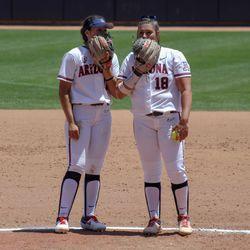 Malia Martinez and Taylor McQuillin discuss softball things