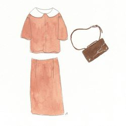 Tokie top in khaki, $325; Saya quilted skirt in khaki, $335; Willa leather bag, $595.