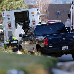 FILE - Local and federal agencies respond to a fentanyl drug bust in Cottonwood Heights on Tuesday, Nov. 22, 2016.