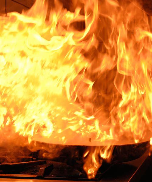 How Kitchen Fire Spreads On Stovetop