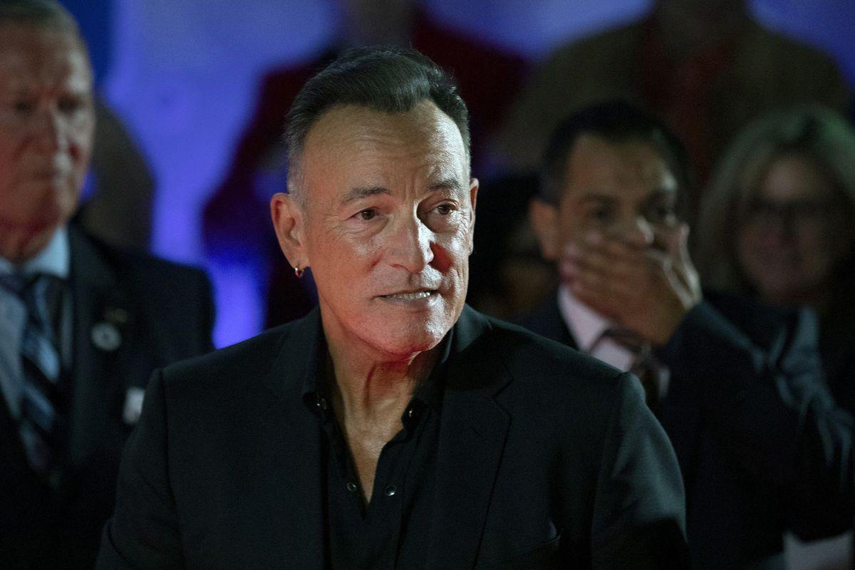 "Bruce Springsteen arrives for the film ""Western Stars"" at the Toronto International Film Festival on Sept. 12 in Toronto."