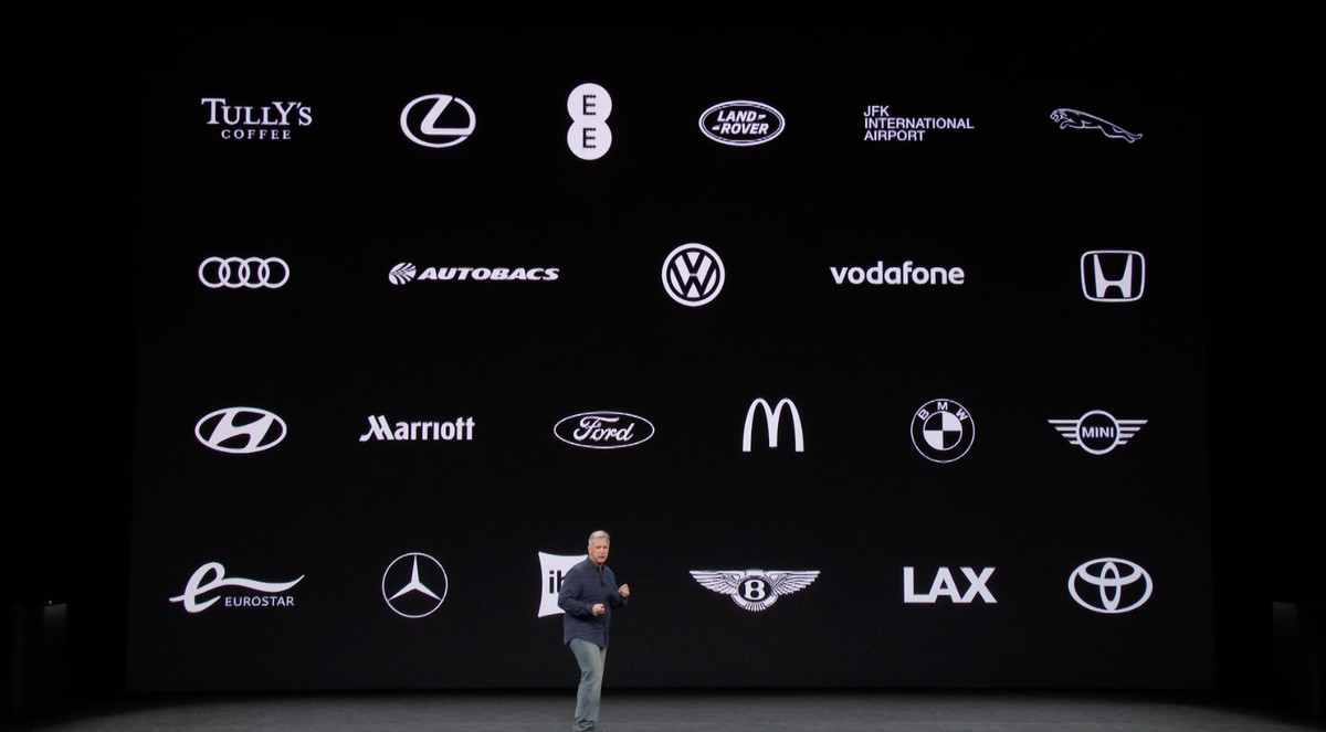 Phil Schiller demonstrating Apple's new wireless charging