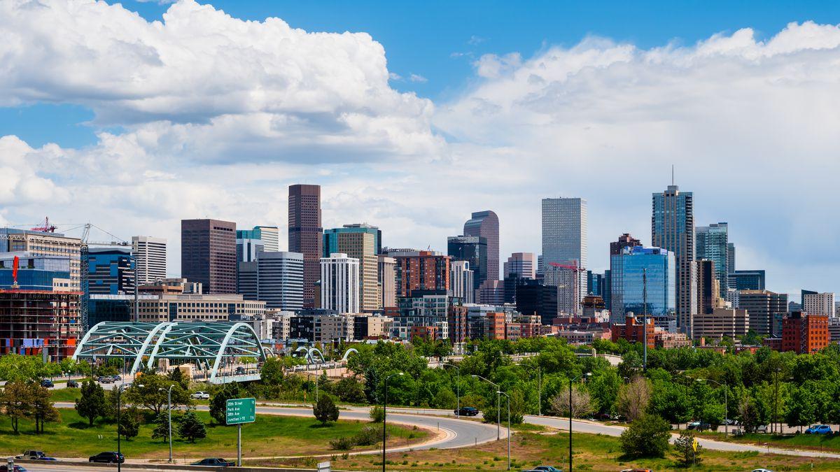 The skyline in Denver, Colorado where marijuana was legalized in 2012.