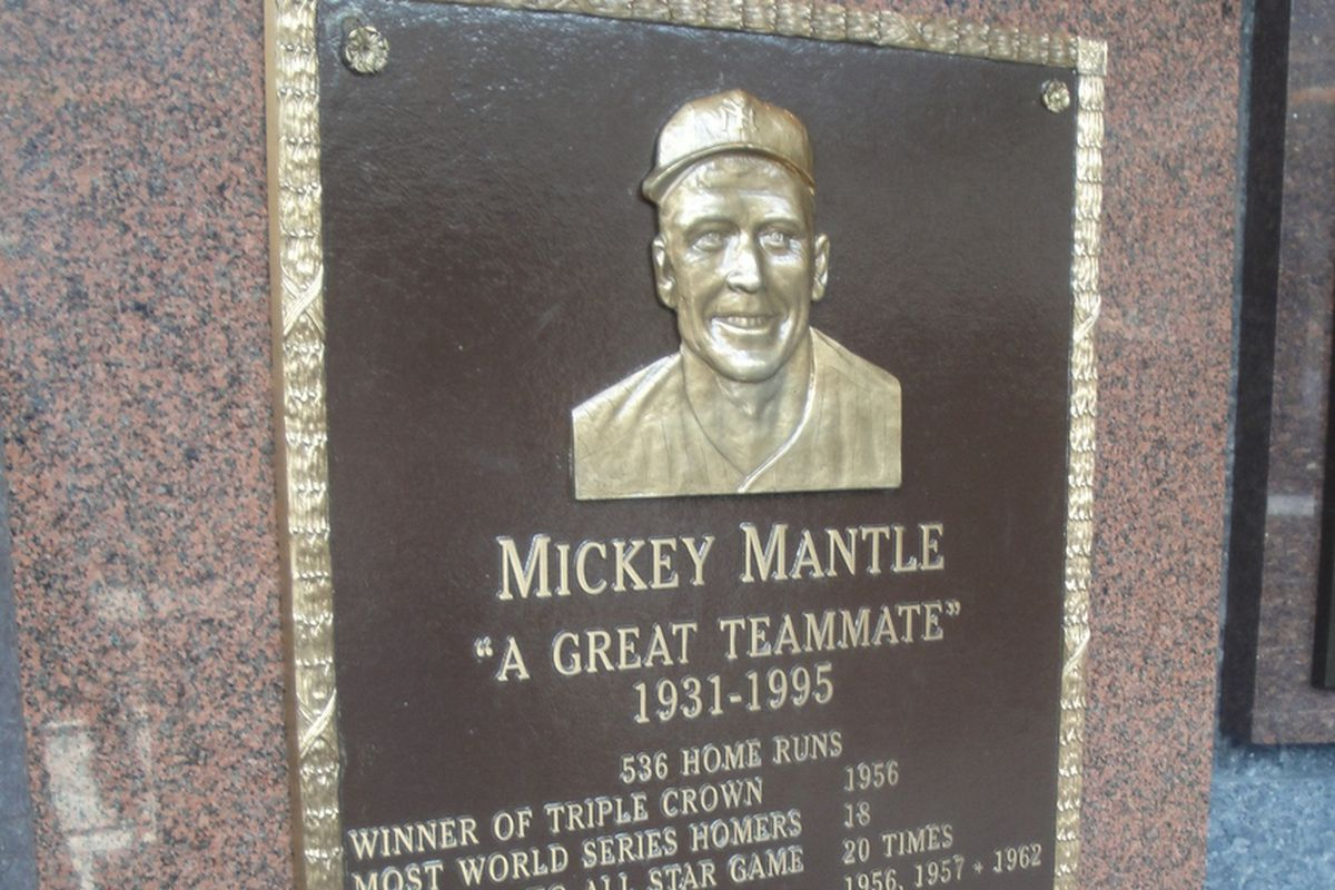 Mickey Mantle was one of only four Yankee players to receive a monument in Monument Park.