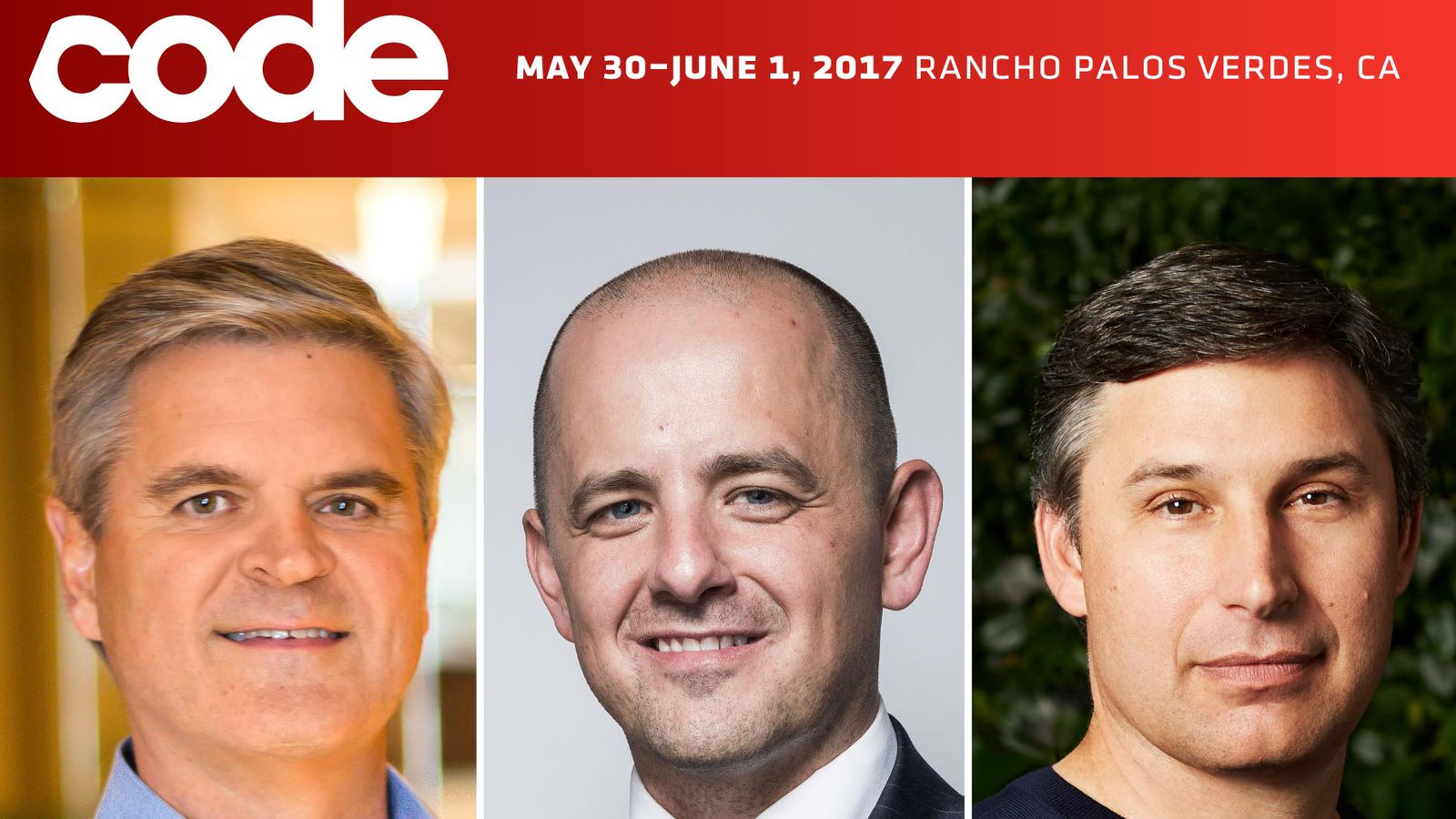 Revolution's Steve Case, Twitter's Anthony Noto and Evan McMullin are coming to Code