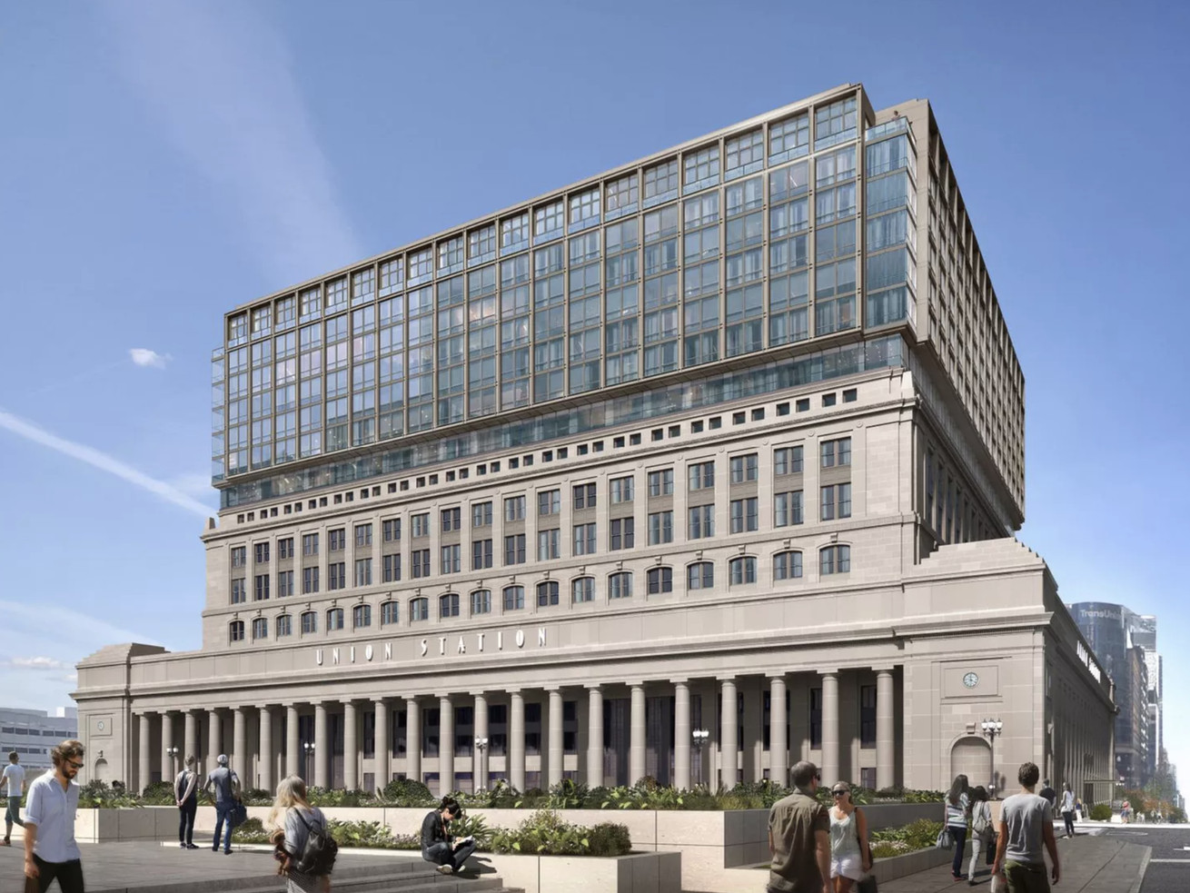 In 2018 developers scrapped plans to build a seven-story apartment addition above Chicago's historic Beaux-Arts Union Station head house.
