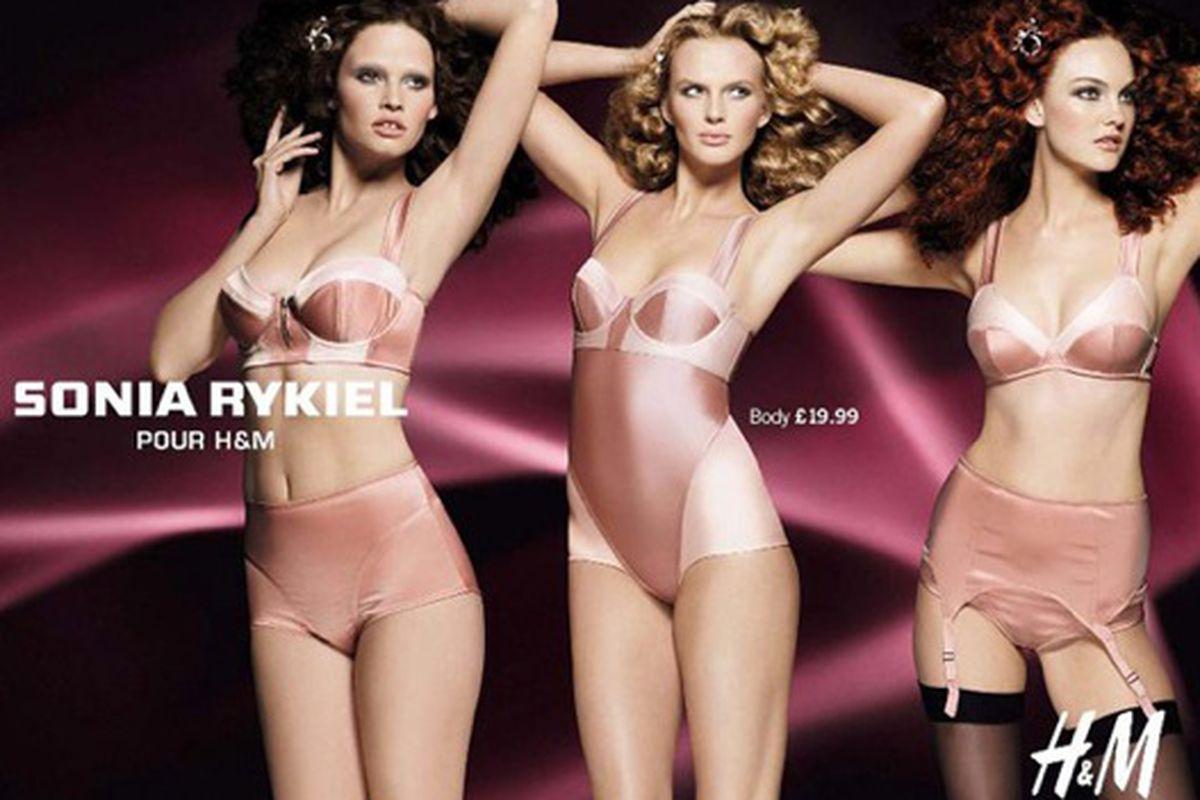 "Are belly-buttons vulgar now? Image via <a href=""http://www.nitrolicious.com/blog/2009/11/09/sonia-rykiel-for-hm-ad-campaign-more-pics/"">Nitrolicious</a>."
