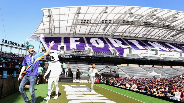 The Fortnite Pro-Am, which was held at the Banc of California Stadium in Los Angeles on June 12, 2018.