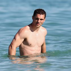 eorge North takes a swim during the swimming session of the British and Irish Lions in Perth, Australia.
