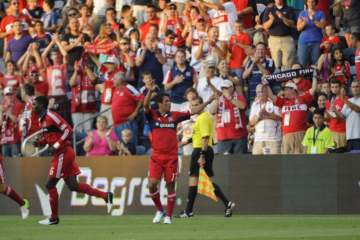 Unlikely Hero: Pavel Pardo scored the game-winning goal off a free kick for the Chicago Fire against the Vancouver Whitecaps on Saturday night. The goal was Pardo's first of the season.