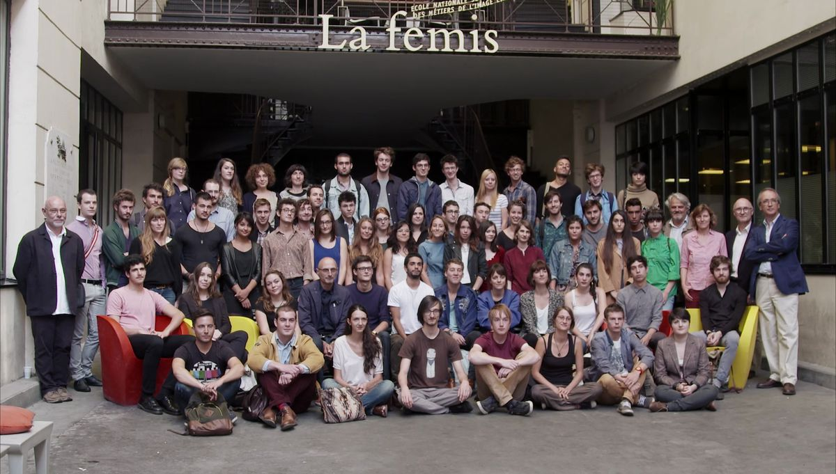 The new class at La Fémis poses for the camera.