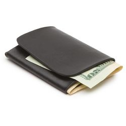 Steven Alan Kazu Leather Bifold (black), $65
