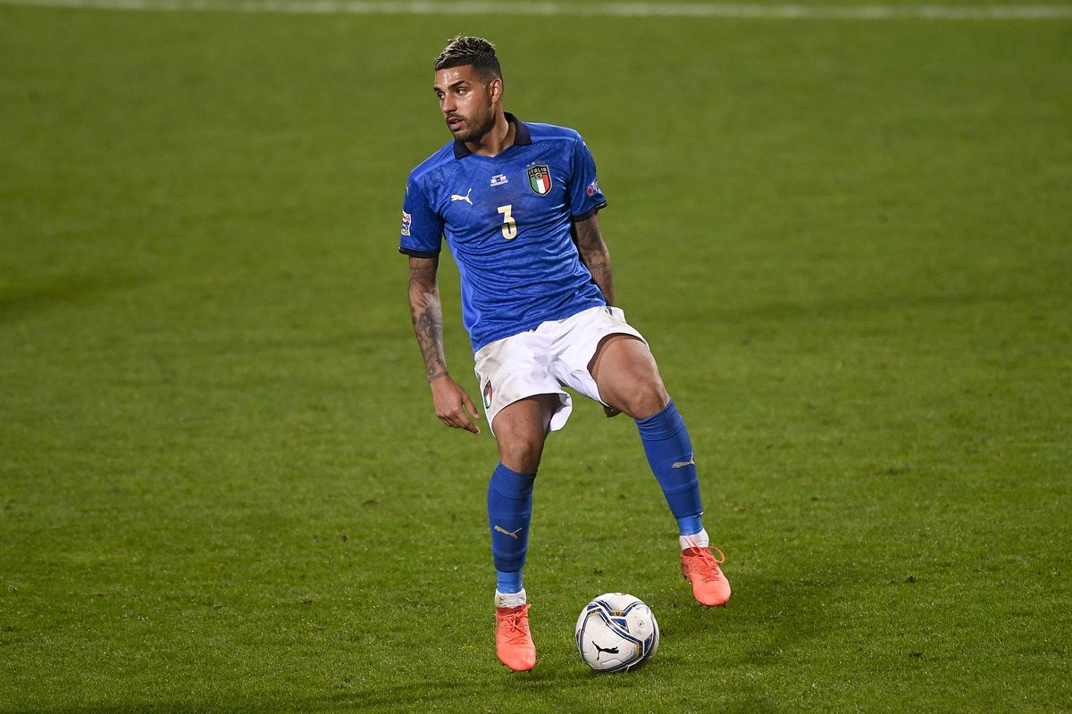 Emerson Palmieri of italy in action during the UEFA Nations...