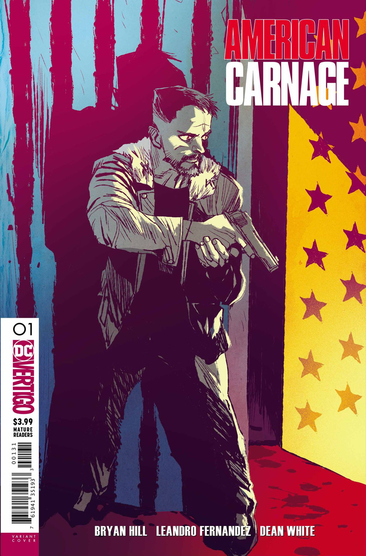Variant cover of American Carnage #1, DC Vertigo (2018).