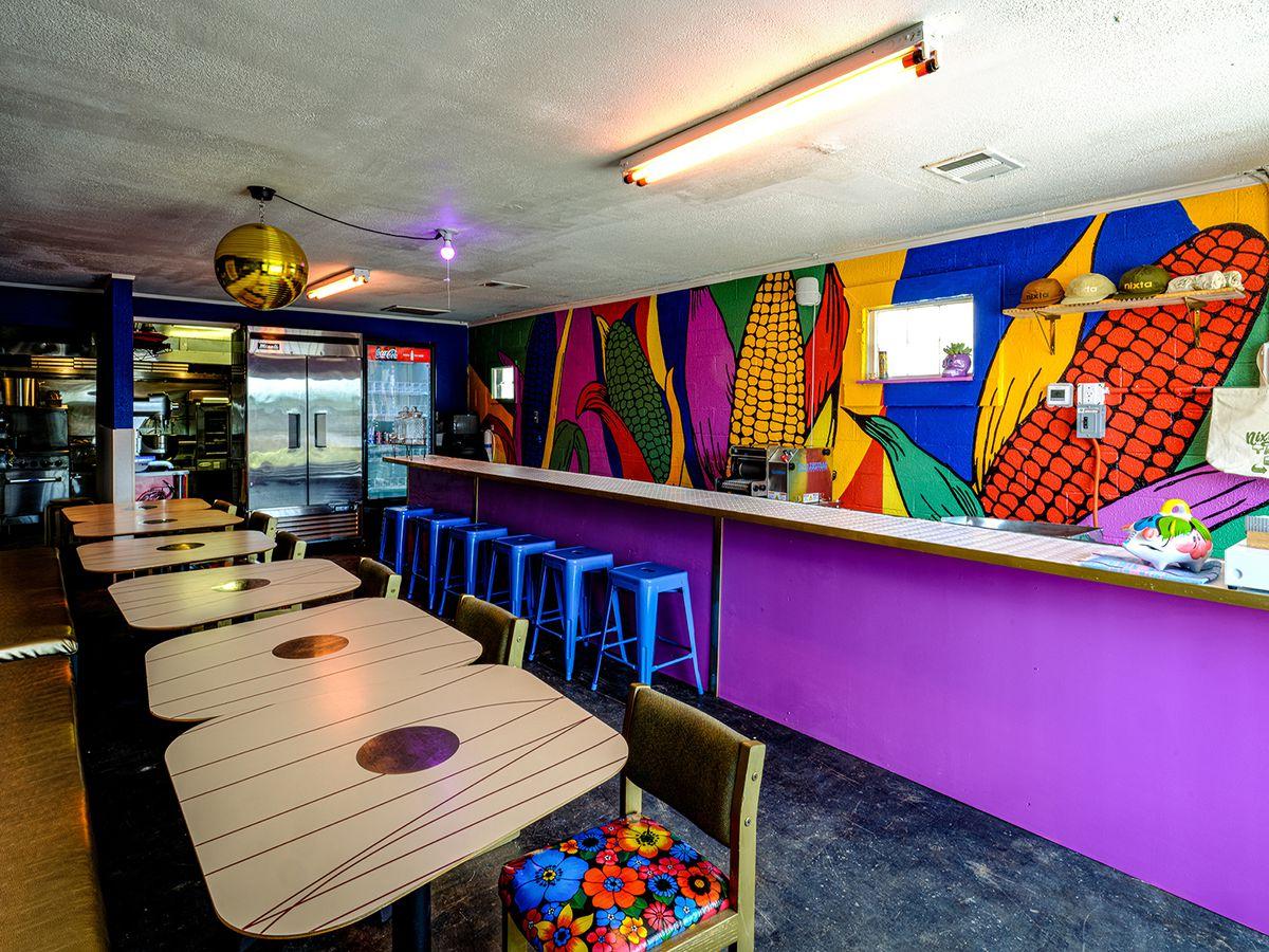 The counter space at Nixta Taqueria