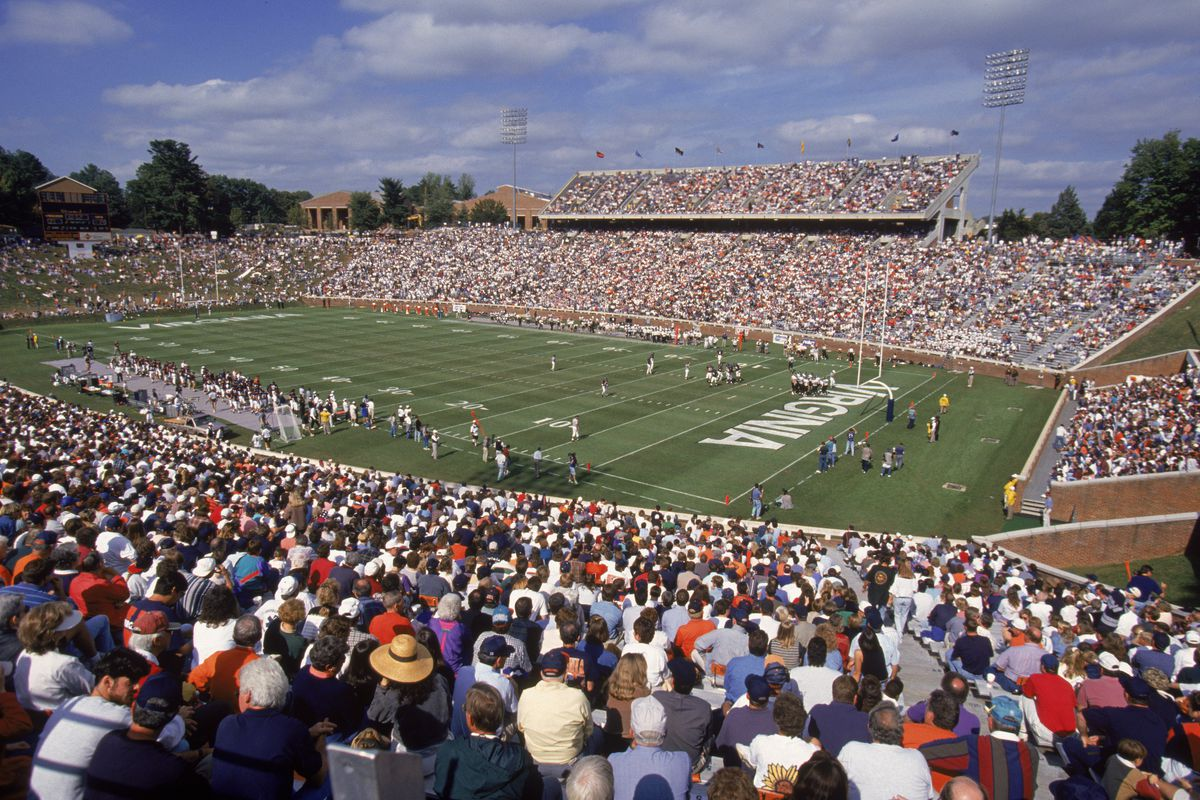 Scott Stadium, pictured here in a 1995 file photo, was the site of a monumental upset later that fall.