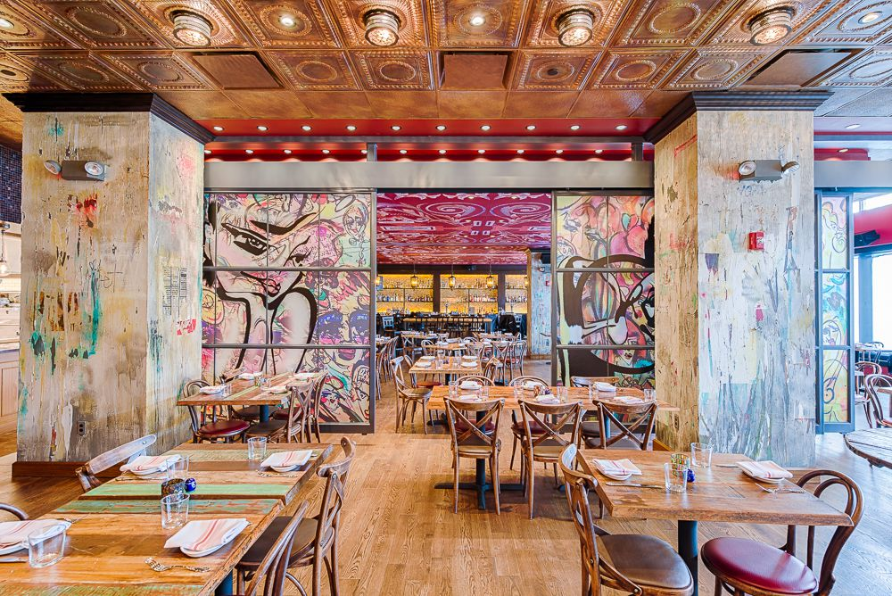 Tico took some leaps with its graffiti-influenced decor. [Photo: R. Lopez]