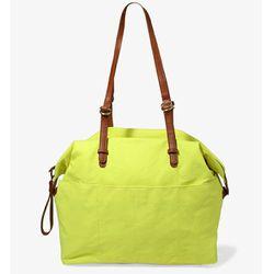 "<b>Forever 21</b> Patch Pocket Duffle bag in neon green, <a href=""http://www.paragonsports.com/shop/en/Paragon/filson-medium-duffel-bag"">$28.80</a>"