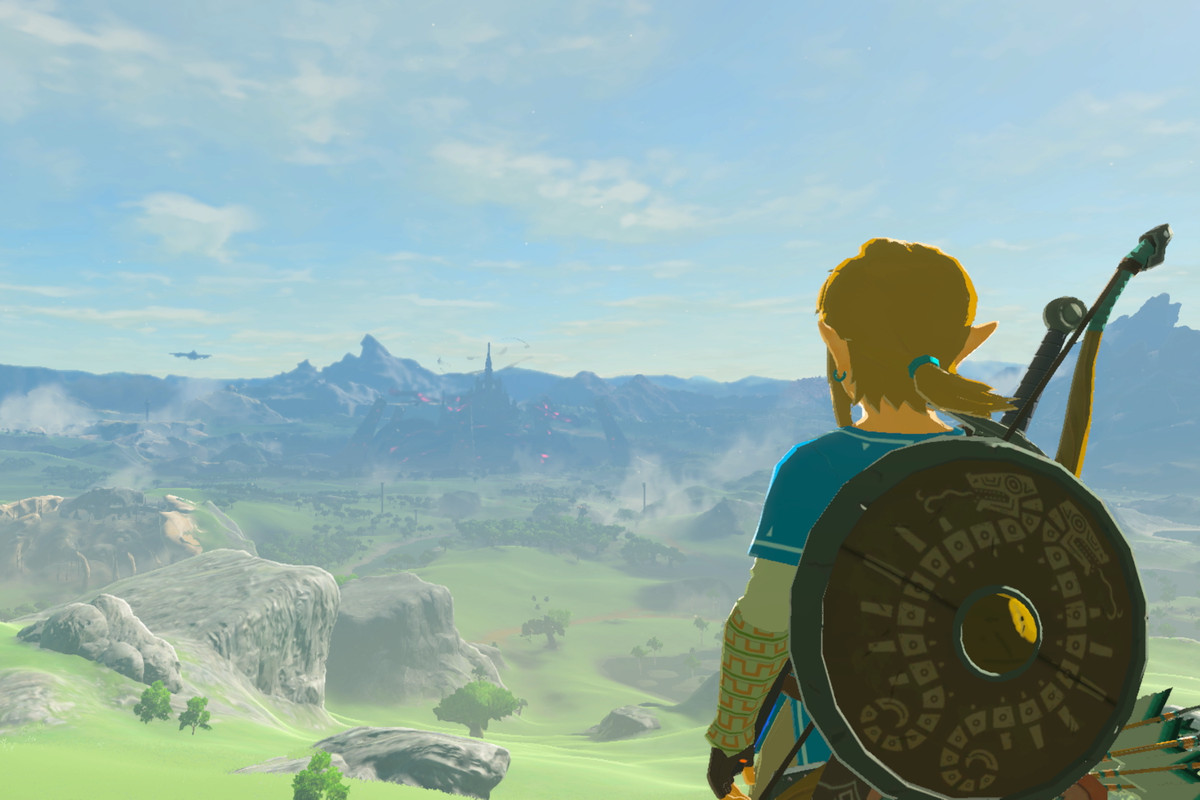 The Legend of Zelda: Breath of the Wild - Link taking in a vista