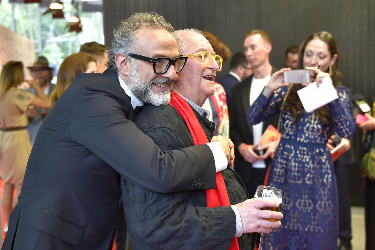 Massimo Bottura and Juan Mari Arzak and the 2018 World's 50 Best Restaurants awards