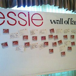 Keeping with the Emmys theme, Essie offered guests a space on their nail wall of fame...