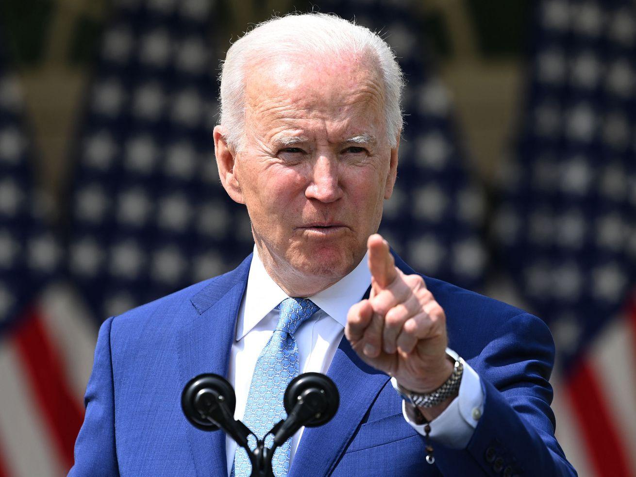 President Joe Biden speaks about gun violence at the Rose Garden of the White House in Washington, DC, on April 8, 2021.