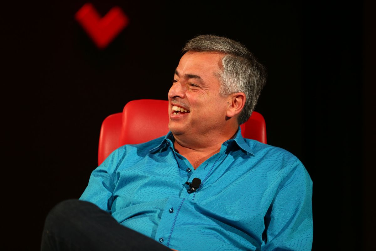 Apple Senior Vice President Eddy Cue onstage at the Code conference