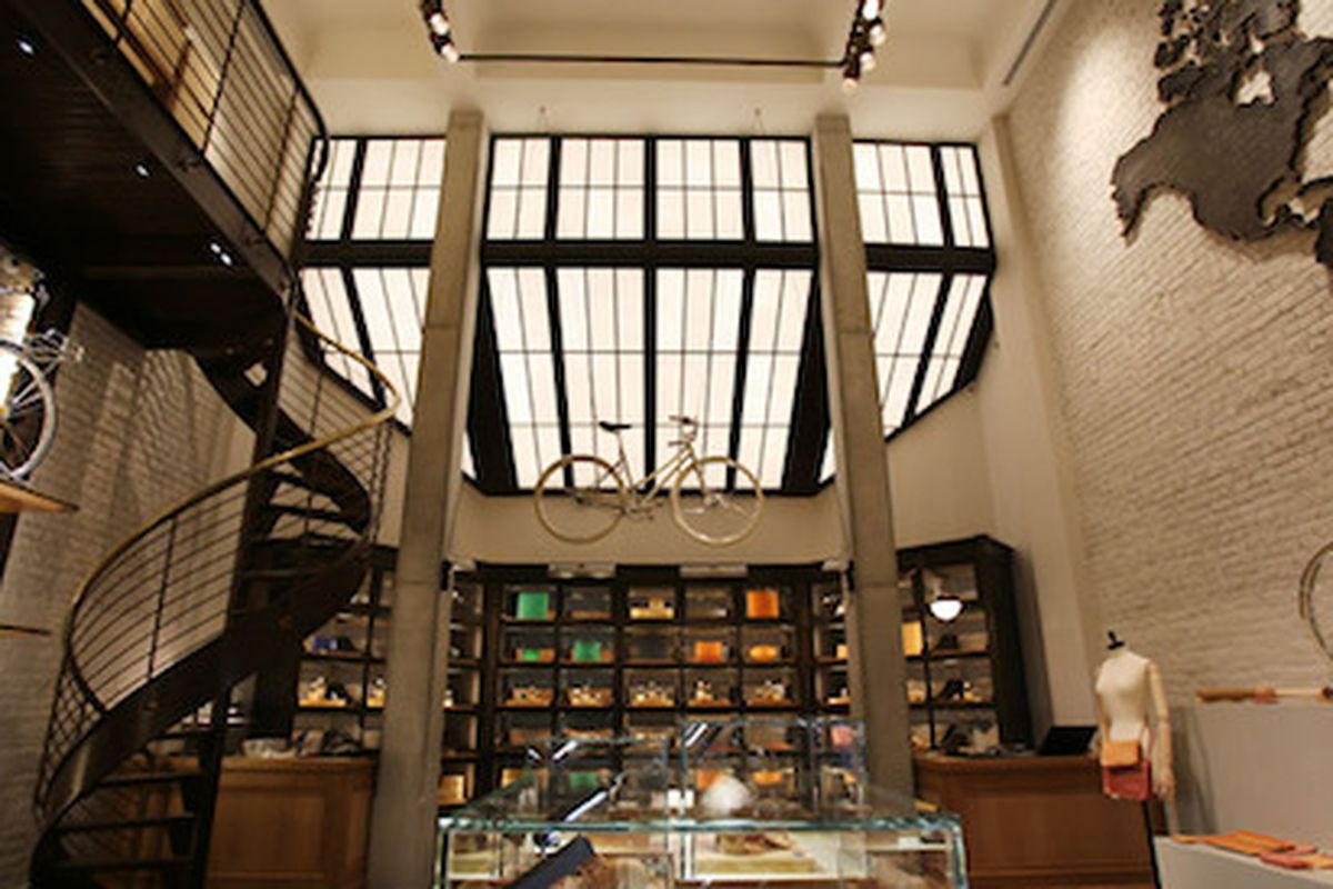"""The Tribeca flagship; Image via <a href=""""http://www.coolhunting.com/culture/shinola-nyc-tribeca-store.php"""">Cool Hunting</a>"""