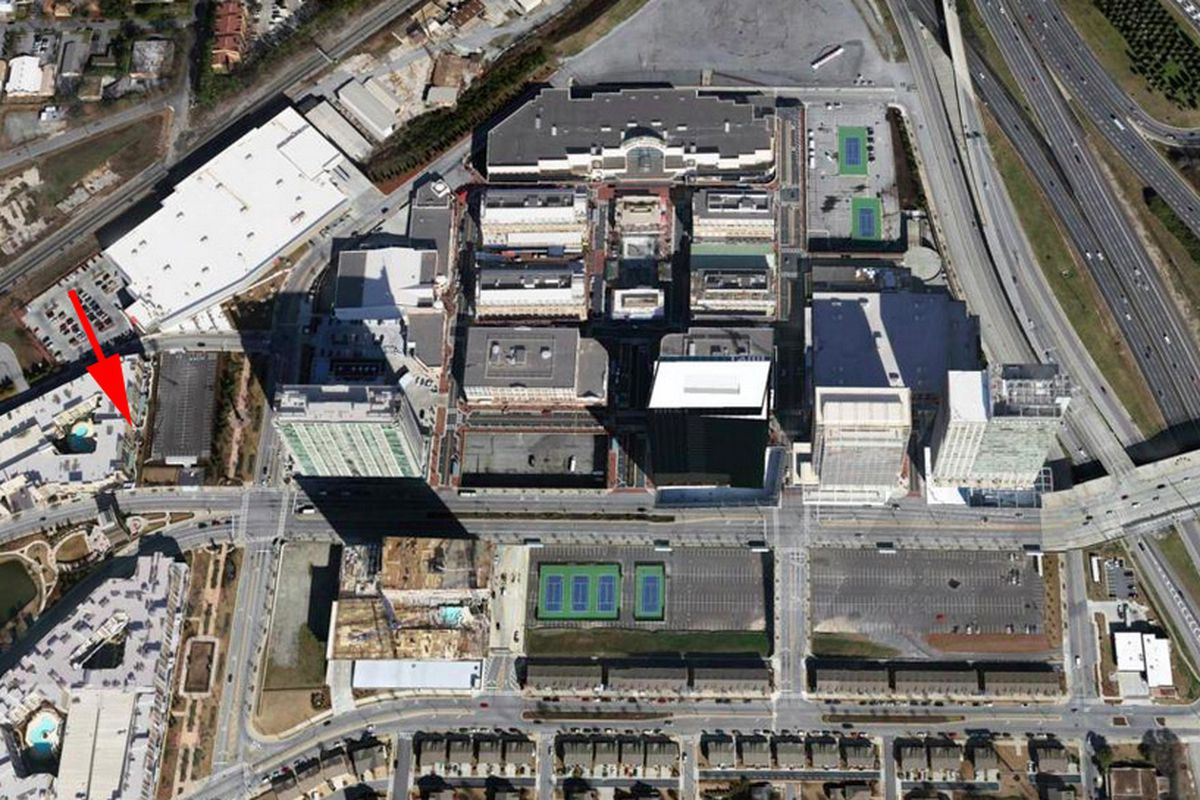 Atlantic Station aerial, gaps included.