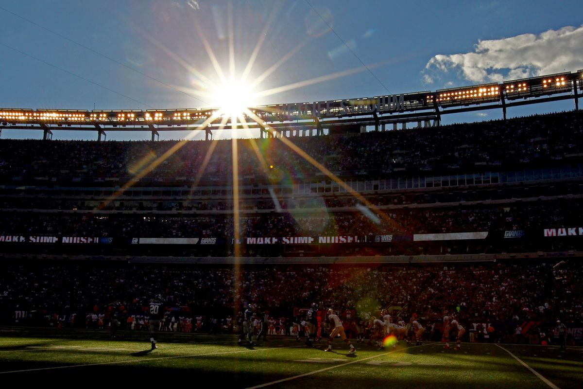 A view of MetLife Stadium during Sunday's Giants-Redskins game.