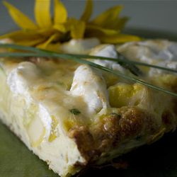 Any cooked vegetable can be substituted for the squash filling in this delicious Squash and Goat Cheese Frittata.