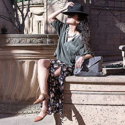 "SF blogger Chandamheer Stacker wears a Brandy Melville skirt; photo via <a href=""http://www.pancakestacker.com/2014/03/the-unexpected.html"">Pancakestacker</a>"